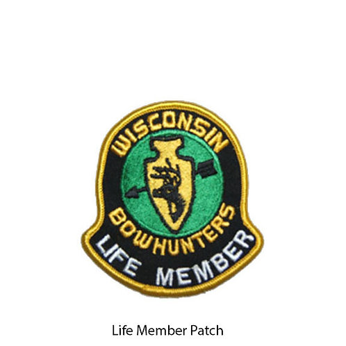 FOR LIFE MEMBERS ONLY: Decal, Patch, Lapel Pin or Plaque. Prices vary.