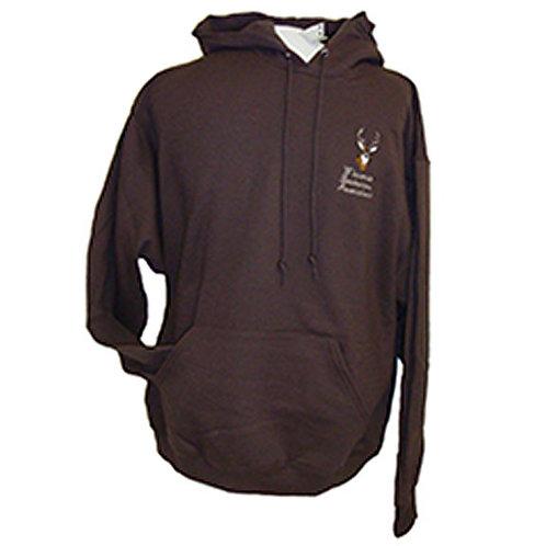 Brown Hoodie w/deer design #344