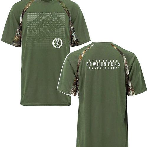 Green w/Camo Sport Tec® T-Shirt   #389