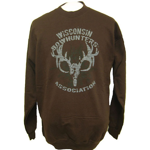 Sweatshirt-Brown w/Antler logo  #336