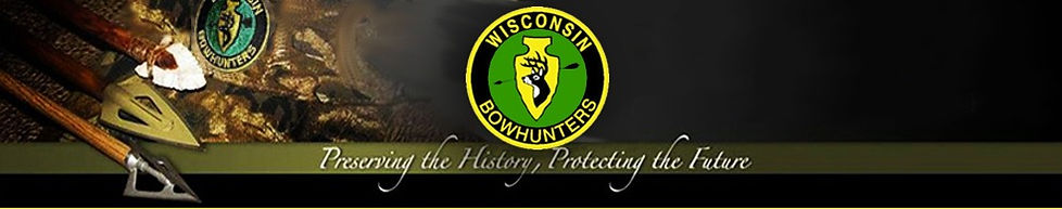 Wisconsin Bowhunters Assoc. Header with Logo