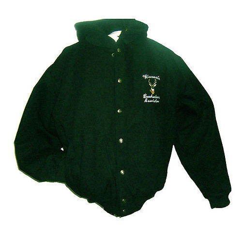 Hooded Jacket w/Removable Lining-Pine Green #297