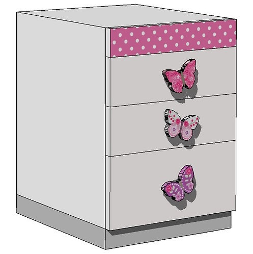 DRAWERS UNIT for Desk - BUTTERFLIES