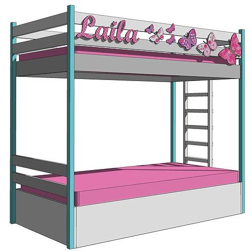 BUNK BEDS  - BUTTERFLIES
