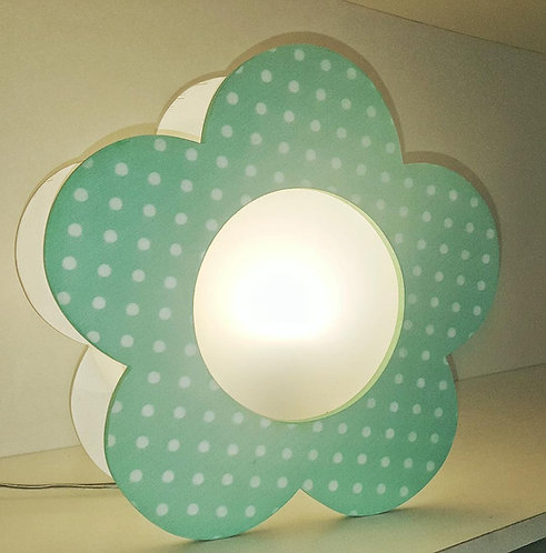 Sitting light-Aqua Flower