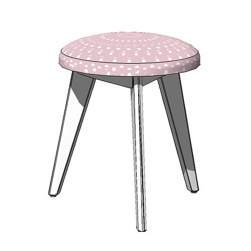 Stool Chair-MY LITTLE WORLD/PINK