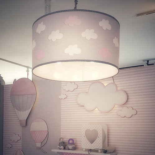 Tubo 60-Ceiling light- MY LITTLE WORLD/PINK