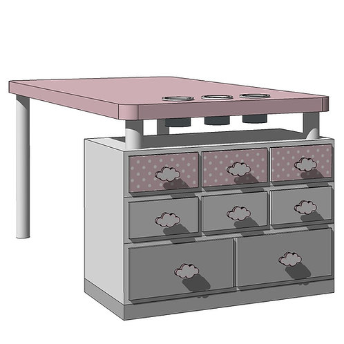 ACTIVITY TABLE 150 -MY LITTLE WORLD/PINK