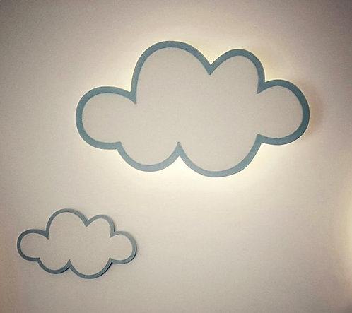CLOUD LIGHT APPLIQUE+cloud wood decor-MY LITTLE WORLD/BLUE