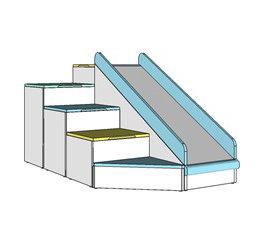 Steps & Slide 75 cms /Triangle base
