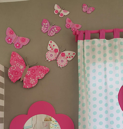 Set of 6 butterflies wood decor- BUTTERFLIES