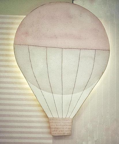 HOT AIR BALLOON LIGHT APPLIQUE-MY LITTLE WORLD/PINK