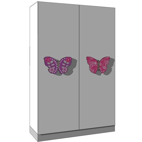 WARDROBE 120x195 cms(2)/(2+2) - BUTTERFLIES