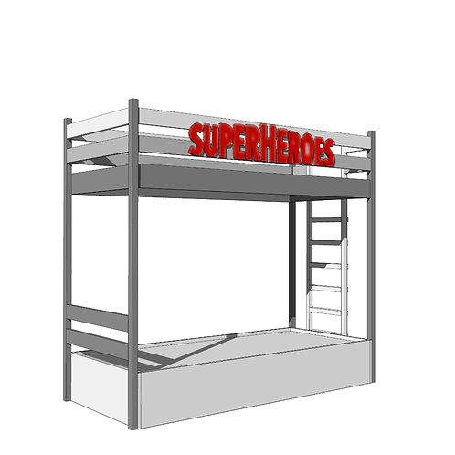 BUNK BEDS  -SUPERHEROES
