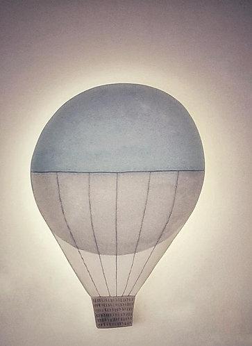 HOT AIR BALLOON LIGHT APPLIQUE-MY LITTLE WORLD/BLUE