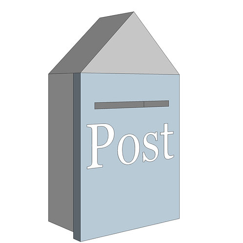 POST BOX - MY LITTLE WORLD/BLUE