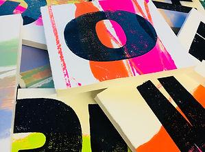 Hand-printed letterpress cast in plaster