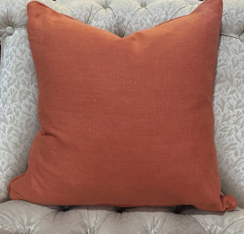 Solid Burnt Orange Throw Pillow Upholstery And Fabric