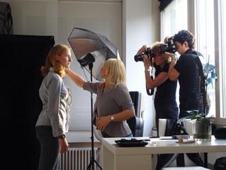 """Visagist beim Workshop """"Studio Licht"""""""
