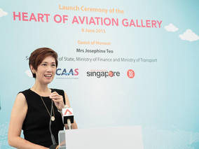 Aviation Gallery @ ION Orchard. GOH: Mrs Josephine Teo, Senior Minister of State, Ministry of Financ