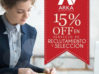 Durante el mes de Octubre y Noviembre  ARKA Venezuela le otorga el 15% de descuento en servicios de