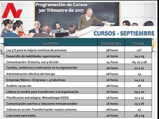 Programación de Cursos de Septiembre 3er trimestre ARKA Venezuela