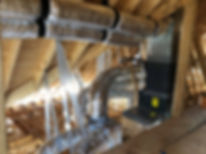 HVAC with attic duct work