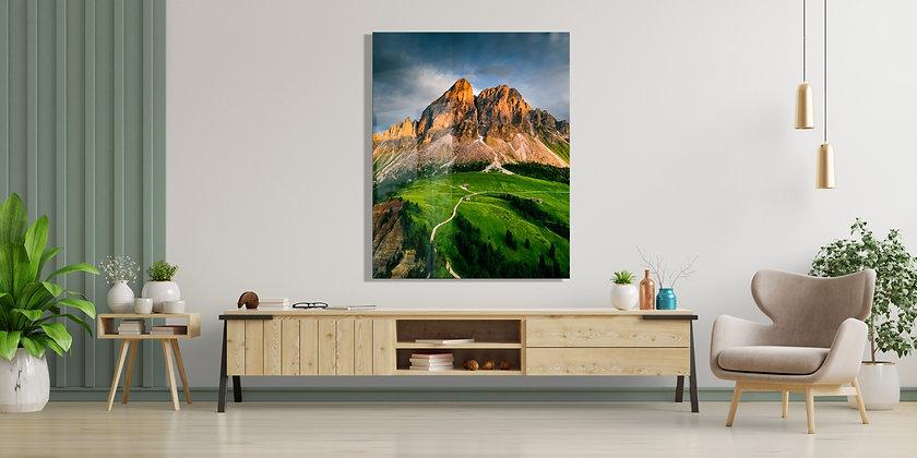 Dağ Temalı Cam Tablo