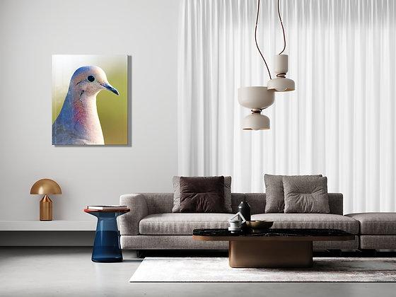Güvercin Temalı Cam Tablo