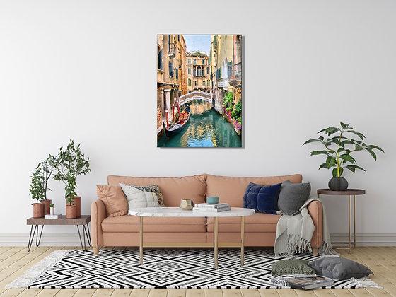 Venedik Temalı Cam Tablo 2