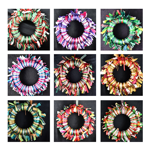 Pre-tied Ribbon Wreaths