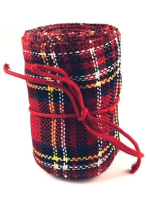 Wide Tartan Fabric Ribbon