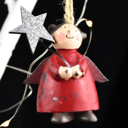 Wooden Fairy decoration x 3