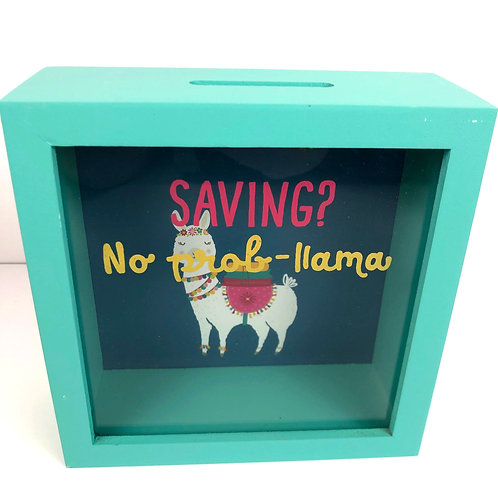 Llama Shadow Frame Money Box