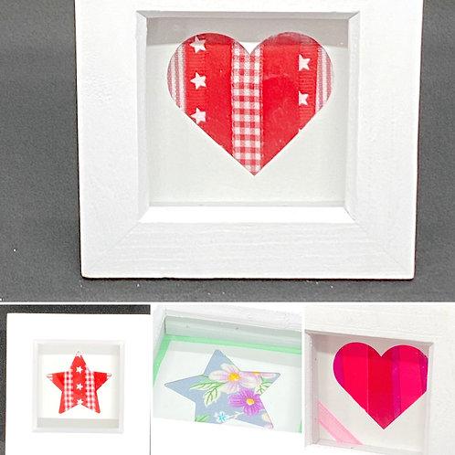 Mini Box Frame - Stars - Hearts