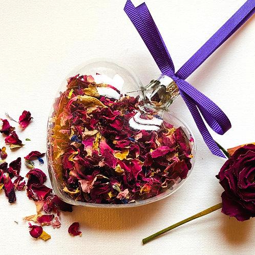 Rose Petal Filled Hearts - Set of 3
