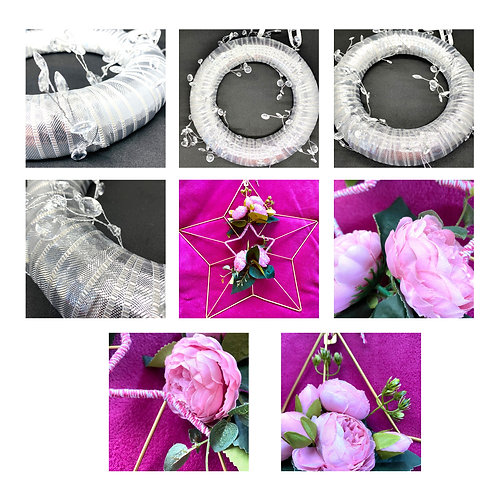 Wrapped Ribbon Wreaths