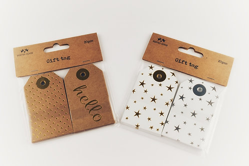 Luggage Tag Style Gift Tags