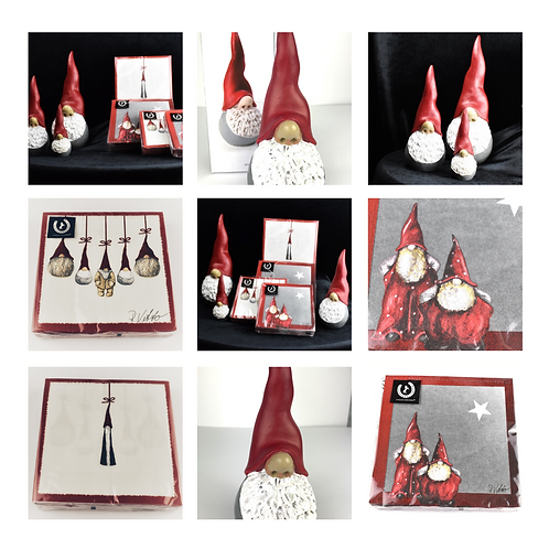 TOMTE   - High Hat Santa Items