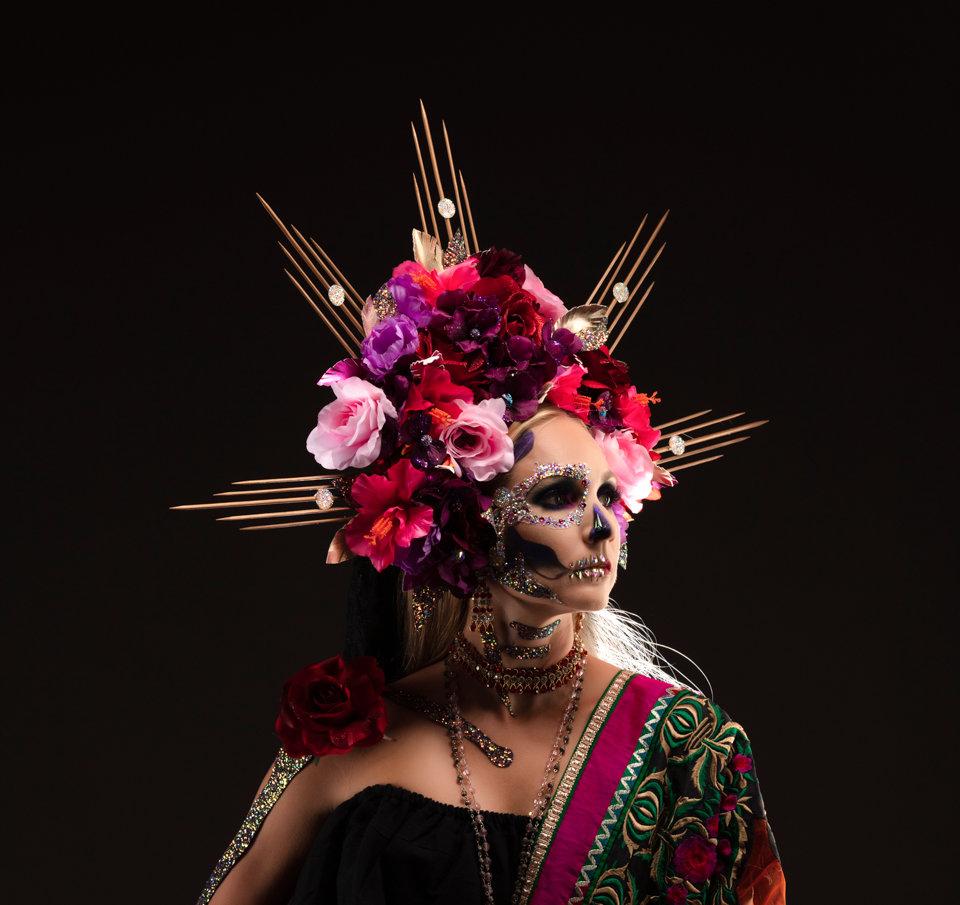 Dia de Los Muertos Makeup Headress Sugar Skull