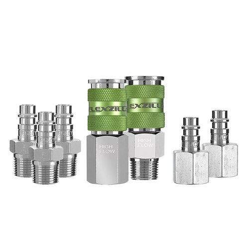A53657FZ     Flexzilla® Pro High Flow Coupler and Plug Kit