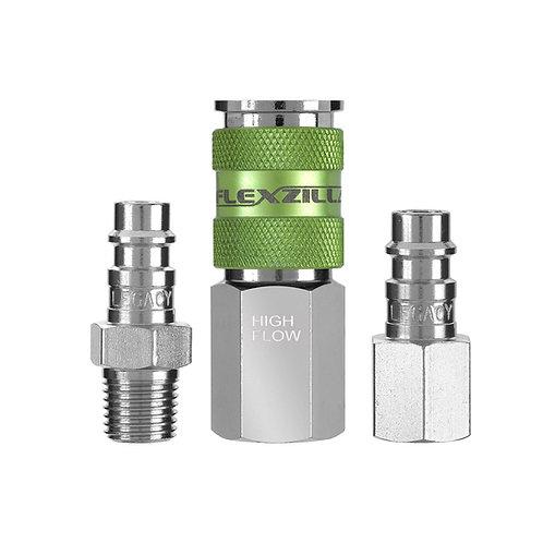 """A53452FZ  Flexzilla® Pro High Flow Coupler and Plug Kit, 1/4"""" NPT, 1/4"""