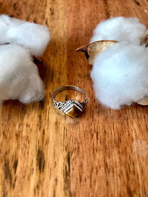 925 Silberring mit Stein