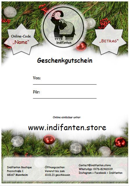 """Digitaler Gutschein """"Weihnachten"""" per PDF"""