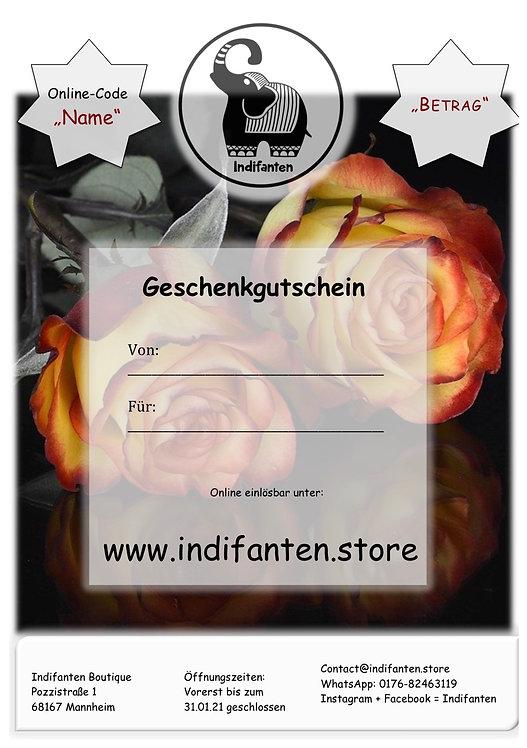 """Digitaler Gutschein """"Rosen"""" per PDF"""