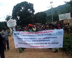 refeades IANSA International Women's Day Think equal, build smart,innovate for change Africa DRC Congo Makobola