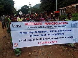 refeades IANSA International Women's Day Think equal, build smart,innovate for change Africa DRC Congo Makobol