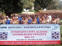 refeades IANSA 16 days of activism campaign against gender-based gun violence SDG 5.2 DRC Congo Makobola