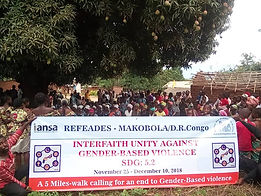 refeades IANSA 16 days of activism campaign against gender-based gun violence SDG 5.2 Congo Makobola