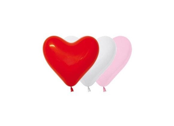 Zak losse ballonnen: Heart assortiment